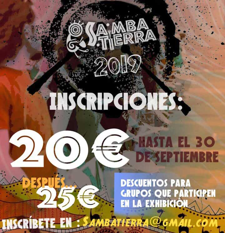 Inscríbete en Samba Tierra 2019